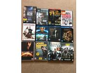 52 DVDs / blue rays for sale. Films, stand up comedy, documentaries, series