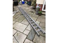 Ladder double extension approx 10m 2x5m 38 rungs 2x19 rungs