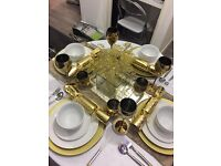 Next Home Gold Dining Set