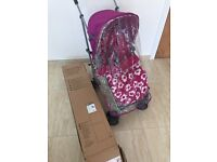 Mamas and Papas trek candy dots stroller
