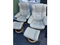 Ekornes Stressless Recliner Chairs and Footstools