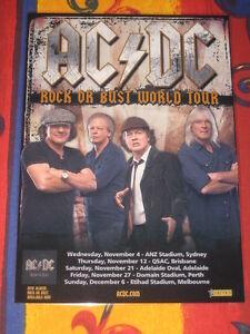 AC/DC - 2015 ROCK OR BUST AUSTRALIAN TOUR  -  PROMO TOUR POSTER.