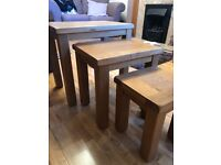 Cotswold Oakland Solid Oak Nest of 3 Tables