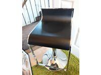 Black and chrome adjustable stool