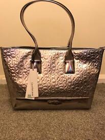 Calvin Klein silver handbag
