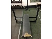 Olympic Flat Bench Chest Press Rack Gym Equipment Weight Training Adjustable