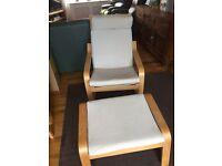 Ikea poang chair & foot stool