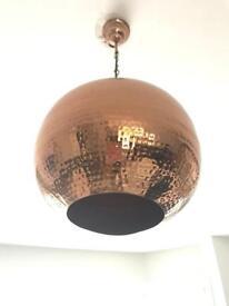 Copper ceiling lamp - excellent condition