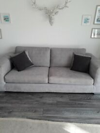 Grey Suite, 4seater sofa 2.5 Sofa and footstool.... only 1year old £500 ono like new