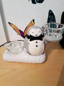 Yankee candle penguin tealight holder
