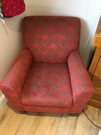 Fabric armchair, excellent condition