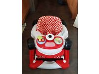 My Child Car Baby Walker/Rocker 2-in-1 F1 Racing Red Good condition