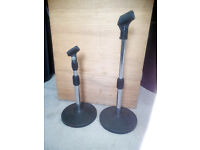 Mike Stands. Two Short Mike Stands. For Drums Guitar amps Pa system ETC. £40.