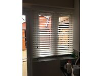 2 brand new wood blinds