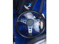 Opel Manta three spoke steering wheel