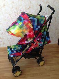 Cosatto Pixelate Stroller with raincover, good condition, CAN DELIVER
