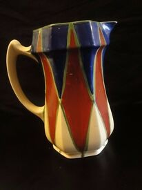 Clarice Cliff Jug in Bizarre Patern extremely rare circa 1930 height=19cm