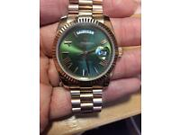 Rose Gold Rolex Day Date 36mm Watch Gorgeous Quality from Dubai