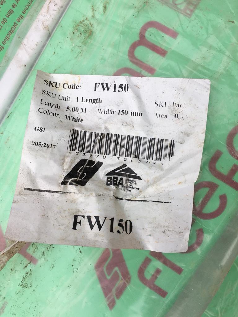 FW150 fascia soffit board L shape profile 150mm x 30mm lip