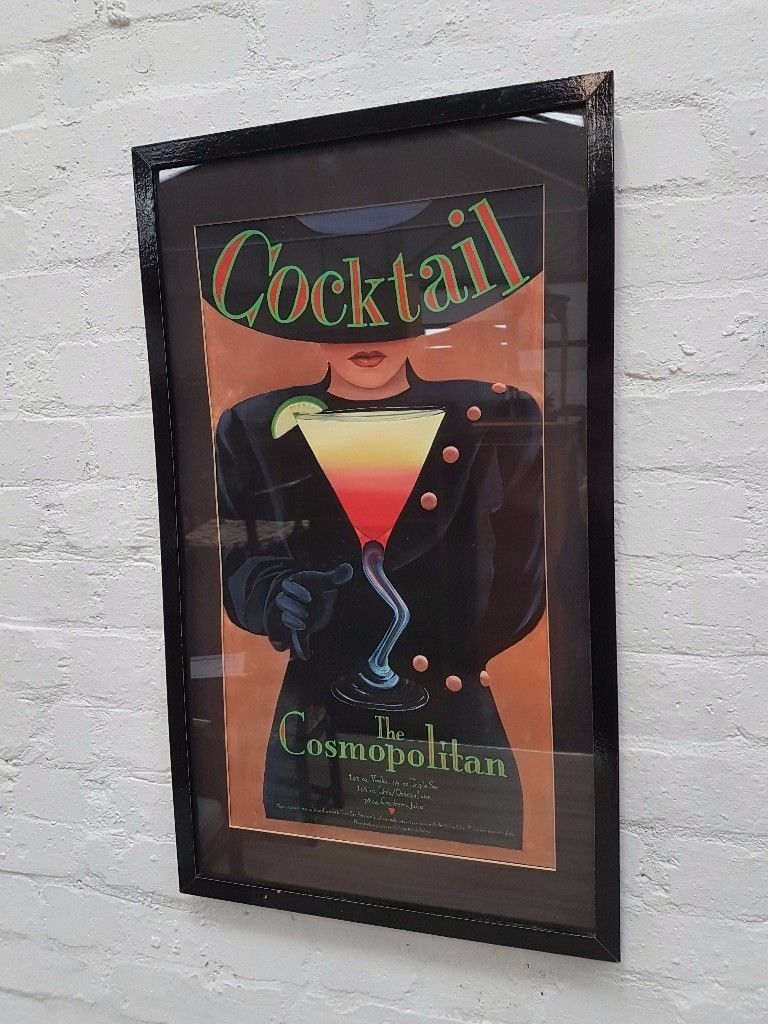 Framed Cocktail Print (DELIVERY AVAILABLE)