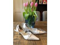 Stunning Ivory Satin Bridal Shoes size 7 / 40 - NEW