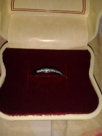 STERLING SILVER _ RING _ SIZE J _ NEW