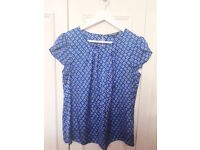 Royal blue silk top (UK size 12)- as good as new
