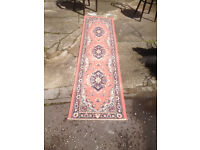 Attractive Pinky/Rose Traditional Persian Oriental Style Runner Rug Runner 225cm x 60cm