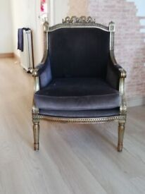 Two stunning French armchairs