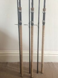 Fox Warrior 12ft 2.75 lbs x 3 Full Cork and Fox Voyager Holdall