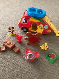 Mickey Mouse and Pluto camping caravan and accessories