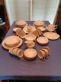 57 Piece Duchess China Dinner Set / Tea Set - Tranquility Pattern