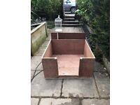 Wooden Whelping Box 36 x 36 w/ Sliding Door