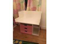 Desk and/or Changing table - 2 in 1