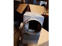 """6"""" metal box fan with thermostatic controller"""