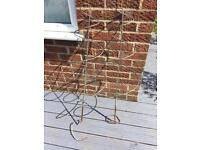 Pair of Metal Spiral Plant Supports