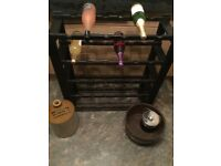 Vintage/retro 1970s wine rack