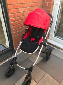 Baby Jogger City Select Double Buggy Red