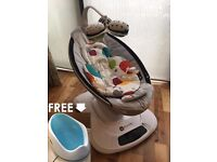 4Moms Mamaroo Baby Bouncer with infant insert - Box included - PLUS Free Bath Seat!!