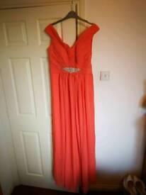Formal Dress - Size 14 - Peach