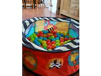 Mothercare baby pool for indoor/outdoor with balls