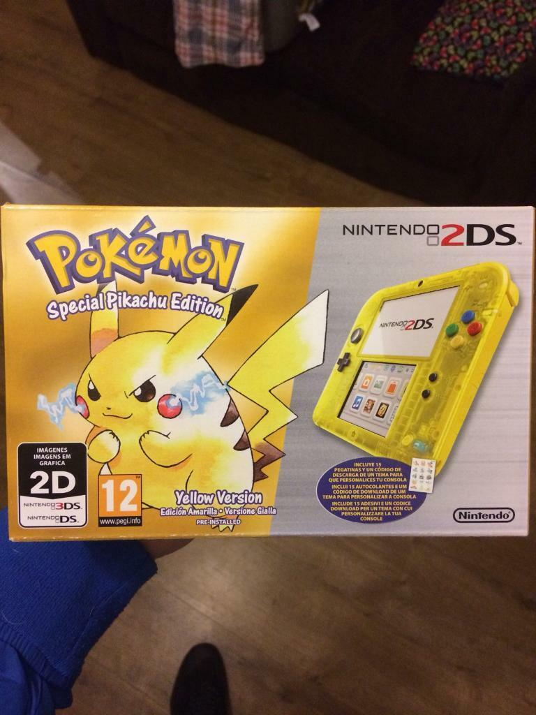 New In Box Pokemon Pikachu Special Edition Nintendo 2ds 3ds Xl Yellow