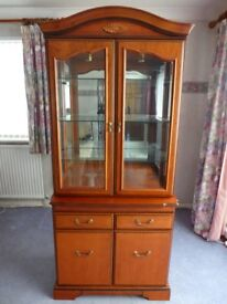 J E Coyle Wall Unit Display Cabinet - Very Good Used Condition