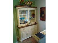 A Farmhouse Style Combination Dresser PLUS Separate Matching Cupboard Unit