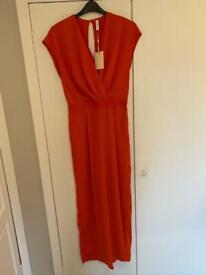 BNWT Ladies Long Tall Sally Playsuit/Jumpsuit In Burnt Orange. Uk Size 12