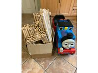 Ride on battery powered Peg Perego Thomas the Tank Engine (with tracks)