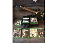 Xbox One With 7 games and guitar