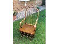 Rocking chair dark wood