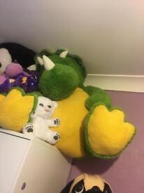 Huge dinosaur teddy