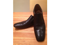 Base Black Men's Smart Loafers (UK10/EU44) (great condition - worn once only for civilised dinner)